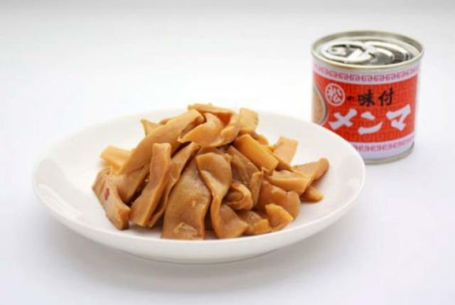 味付メンマ豆缶皿盛り